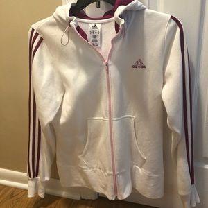 Adidas ladies zip up hoodie size M